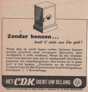 Advertentie van C.D.K